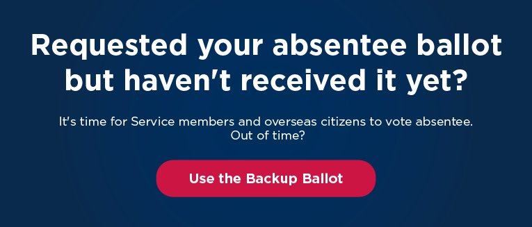 Never received your absentee ballot? Get a Write-in #proudovereasvoter https://t.co/WntuLSg3n2