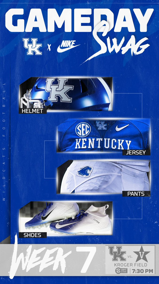 LOOK  Kentucky unveils uniform combination for Week 8 game vs ... 6d15a8d29