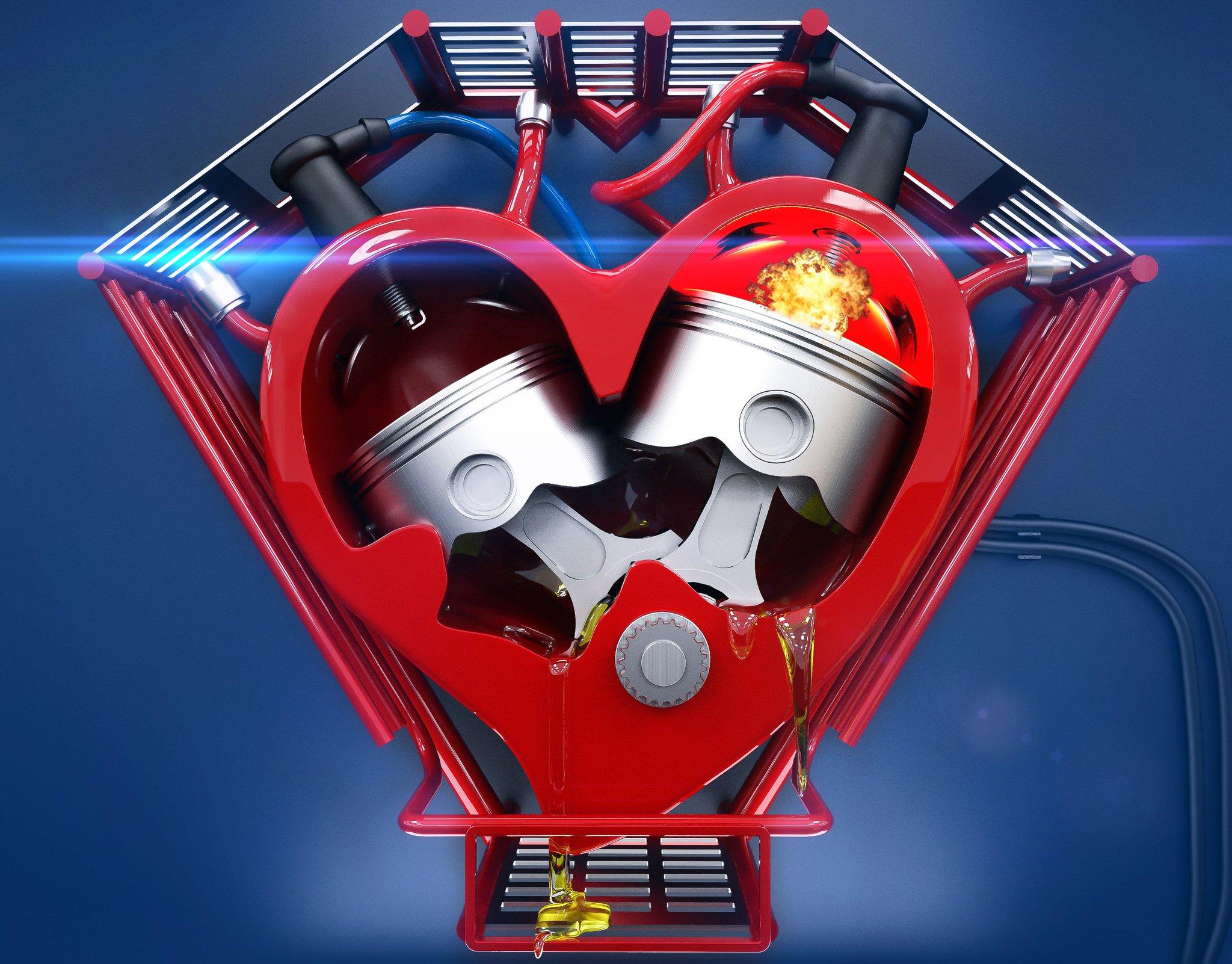 картинки сердце с мотором экспортировал