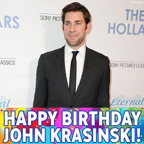 Happy birthday to actor John Krasinski. Jim Halpert from The Office turns 39 today.