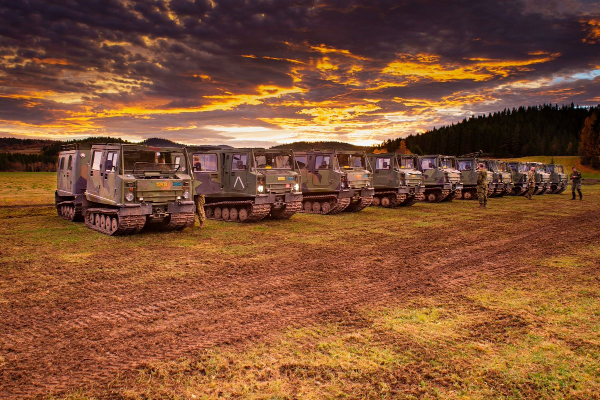 Check out that view! #DidYouKnow that the @CanadianArmy is bringing over 200 vehicles to #NATO Exercise #TridentJuncture 18?