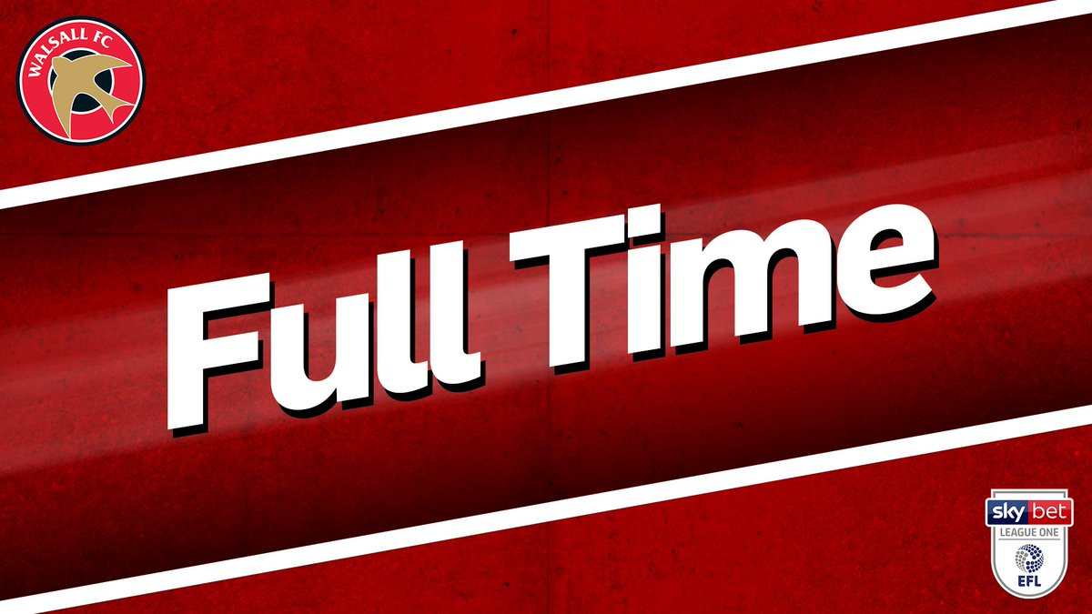 FT: Luton 2-0 Walsall. Goals from Glen Rea & Jorge Grant end the #Saddlers 🔴⚪️unbeaten run away from home. Thank you for your fantastic support once again.