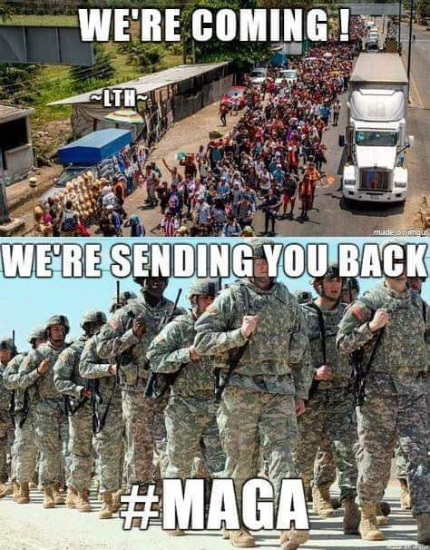 We have a President with the courage to protect America. He boldly promised to send US Military to stop an illeagal immigrant invasion. World leaders now know he means business. They may not like it but they respect him. #MAGA #tcot #FoxNews #SaturdayMorning #SaturdayMotivation