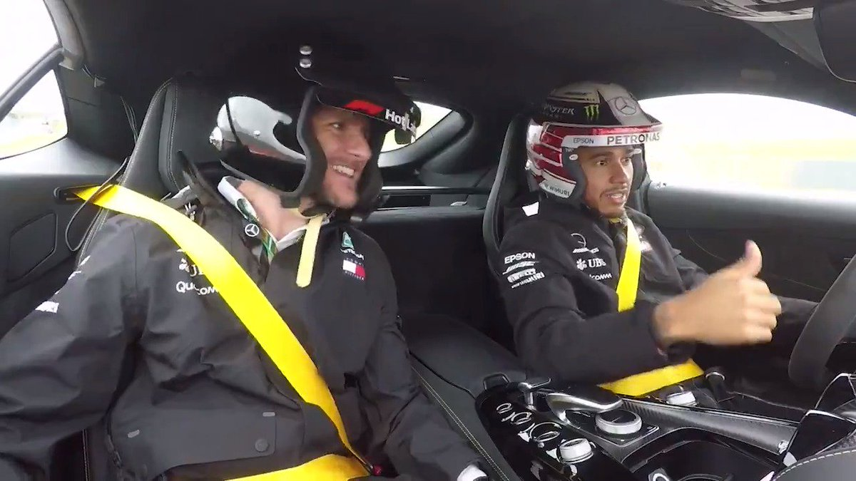 Taking an awesome @MercedesAMG ride round the mighty @COTA with your mate... Pretty cool, right? But what if your mate was @LewisHamilton! 😉 #USGP 🇺🇸 @F1