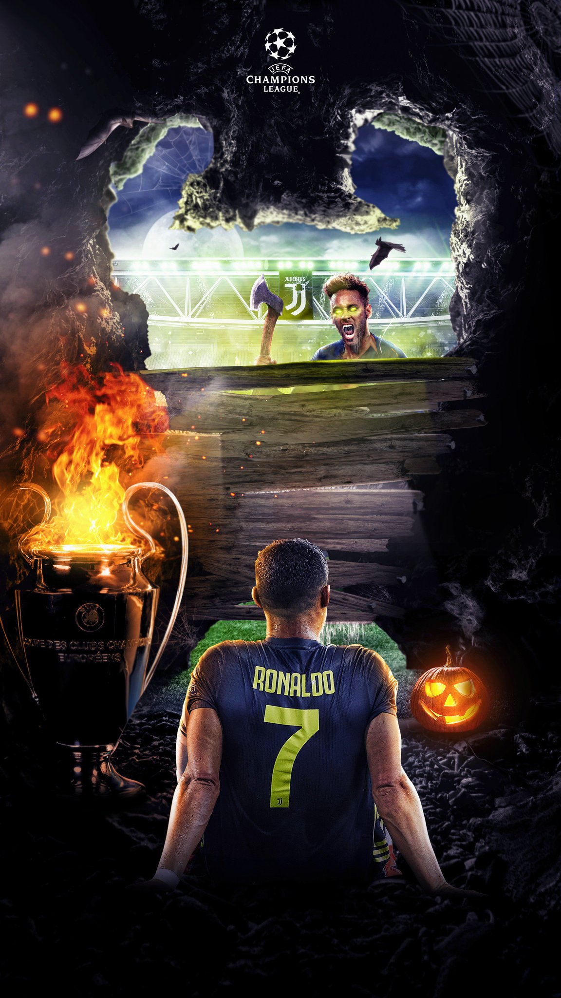 ''Ronaldo's Worst Nightmare''☠️�� - @Cristiano  Poster for this years halloween!  Leave a �� and maybe he'll see it! https://t.co/531vULwcki