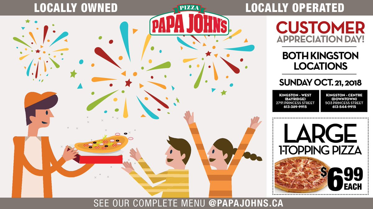 Papa Johns Kingston (@papajohnsktown) | Twitter