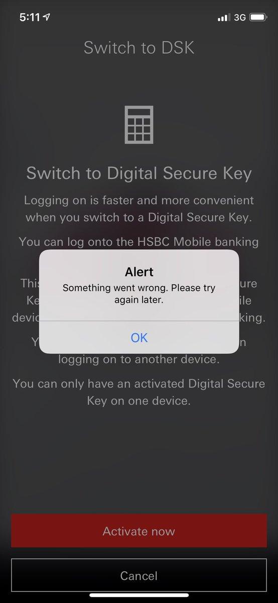 www hsbc co uk activate secure key