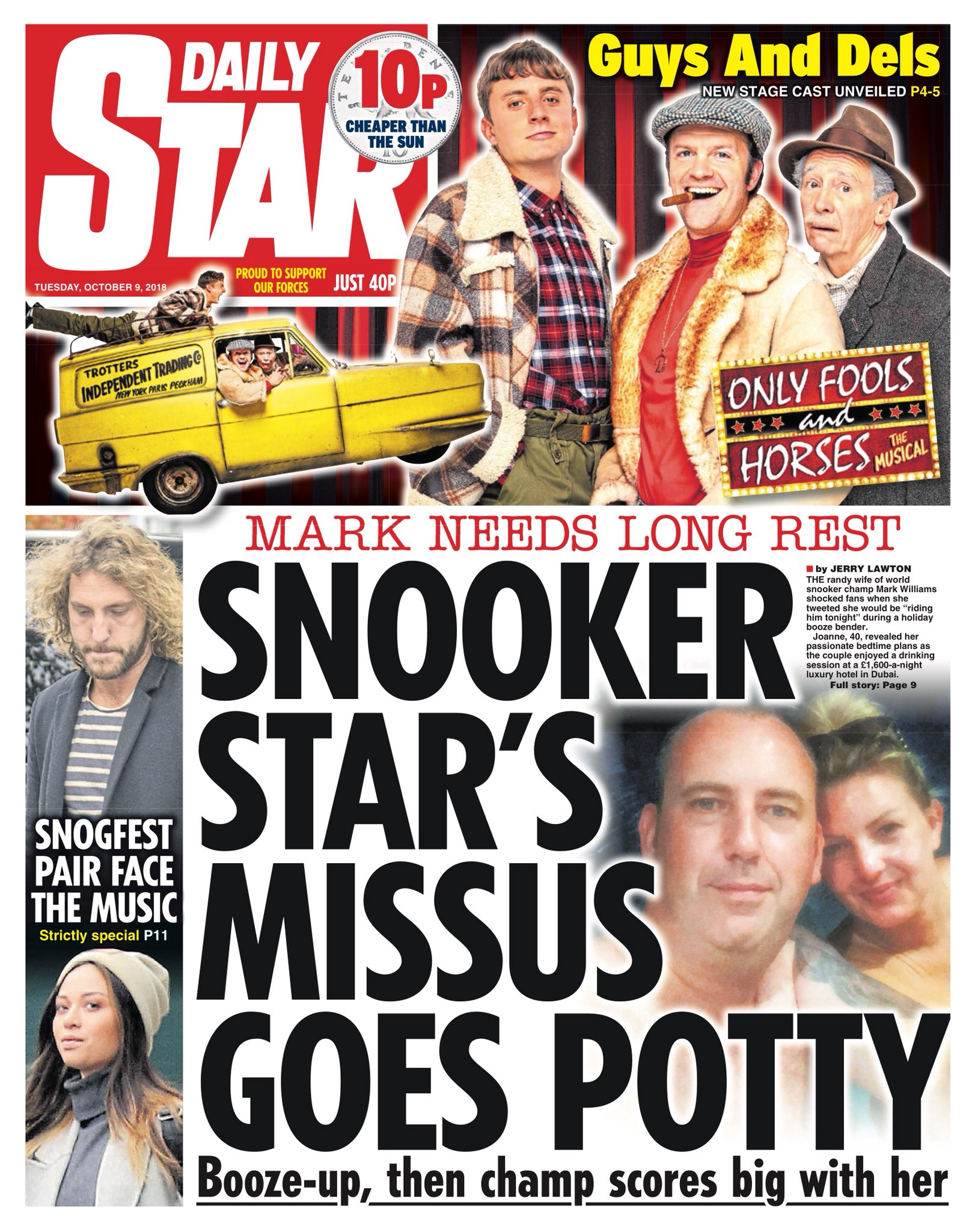 STAR: Snooker Star's missus goes potty #tomorrowspaperstoday https://t.co/GUbEYI3NIM