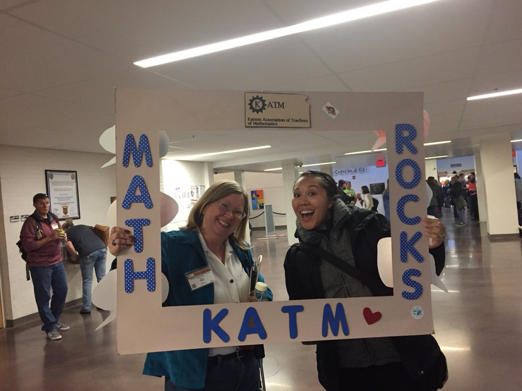 Getting our math on at #KATM2018 conference.