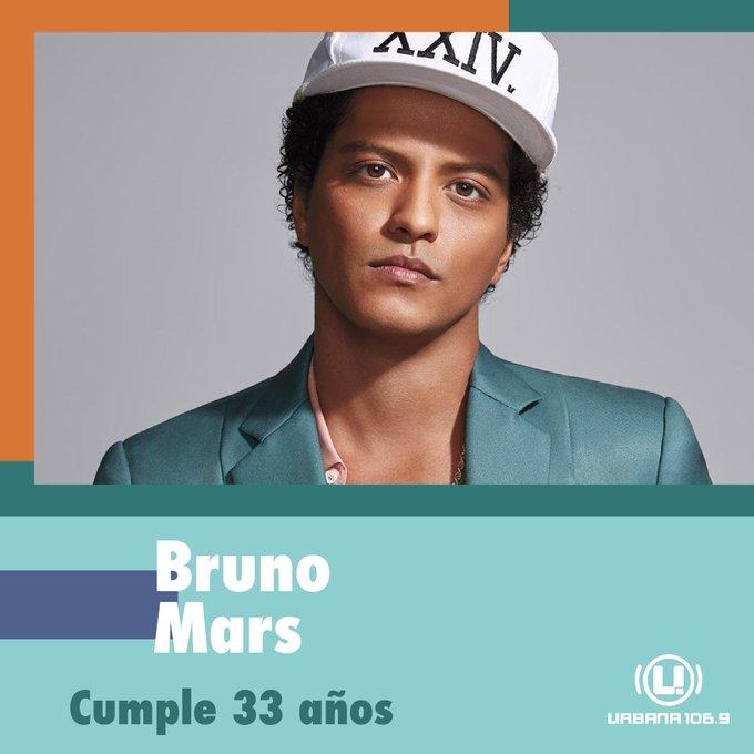 Hoy cumple 33 años uno de nuestros artistas favoritos ¡Happy Birthday, Bruno Mars!
