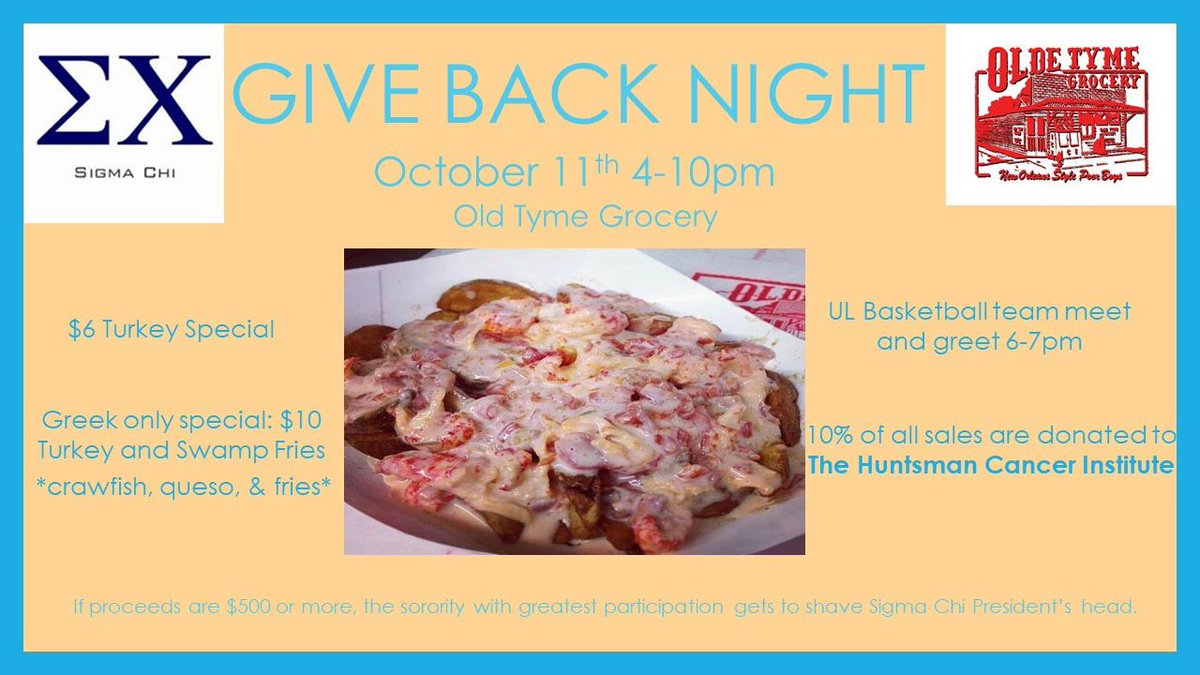 Olde Tyme Grocery On Twitter Come By And Enjoy Good Food With Good People For A Great Cause Thursday Night 10 Of All Sales For The Night Will Be Going To The