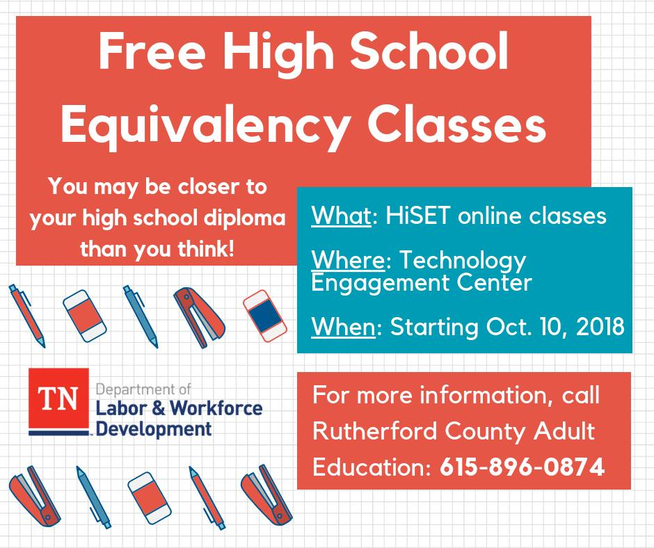 ... by trained Adult Education teachers to help you pass the HiSET. FREE  and open to the public. http://ow.ly/fHNR30m8pPc pic.twitter.com/AZHZHhxJM2