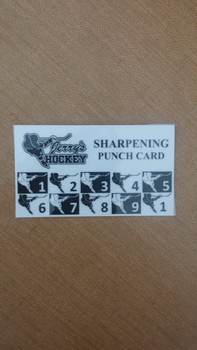 #JerrysHockey skate sharpening card. Good for 10 sharpenings. $15 savings. What will you do with an extra $15? -10 piece bucket at #KFC? Go nuts in the candy section of #5Below? 3 #TacoBell #DoubleCrunchWrapSupremeBox