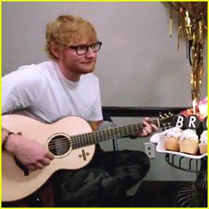 Ed Sheeran Sings Happy Birthday to Bruno Mars WatchNow!