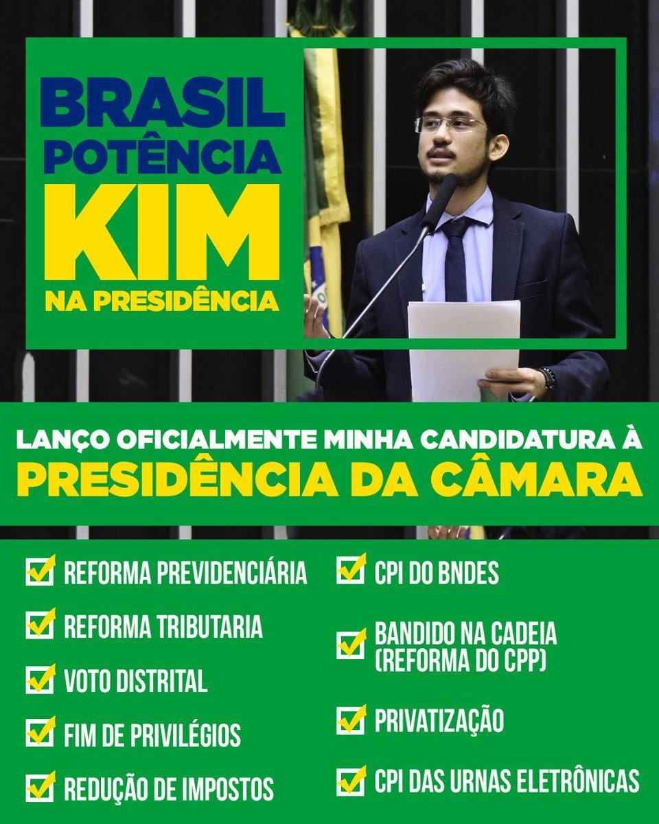 O Brasil passa por um momento difícil. Reformas importantes e estruturantes precisarão ser feitas para voltarmos a crescer e colocarmos nossa nação no rumo de um país desenvolvido. Com essa responsabilidade em mente, lanço oficialmente minha candidatura à pres. da Câmara dos Dep.