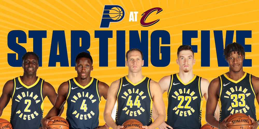 Tonight's starting 5️⃣ in Cleveland: @Darren_Collison @VicOladipo @44bojan @leafsquad22  @Original_Turner https://t.co/8Rm1DGYJK9