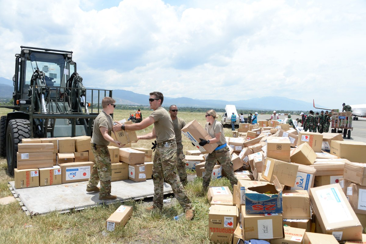 USAID in coordination with the U.S. Military brought over 41 metric tons of relief supplies to those affected by the Indonesia earthquake and tsunami.