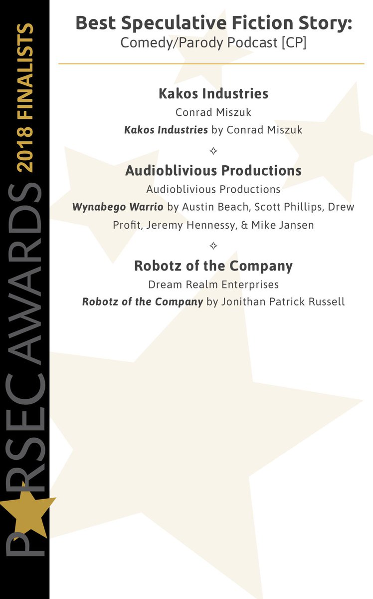 The Parsec Awards on Twitter: