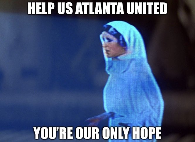 Image result for help us atlanta united you're our only hope