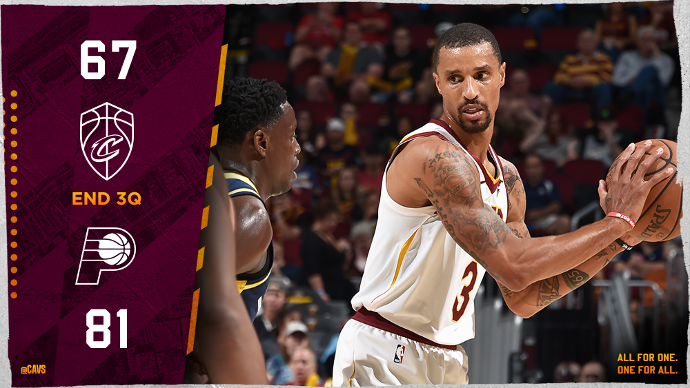 In double-figures ⤵  @KyleKorver: 14PTS @dekker: 10PTS @George_Hill3: 10PTS, 7REB, 5AST, 4STL  #CavsPacers https://t.co/tX9I2cycW0