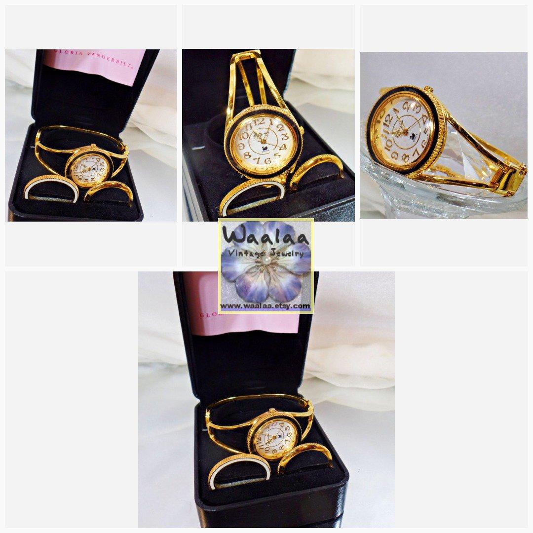 95ae54c9756 Ladies Watch. Gloria Vanderbilt Rhinestone Watch. Convertible Bezel Watch.  Watches for Women. Jewelry for Women. waalaa  VintageLadiesWatch ...
