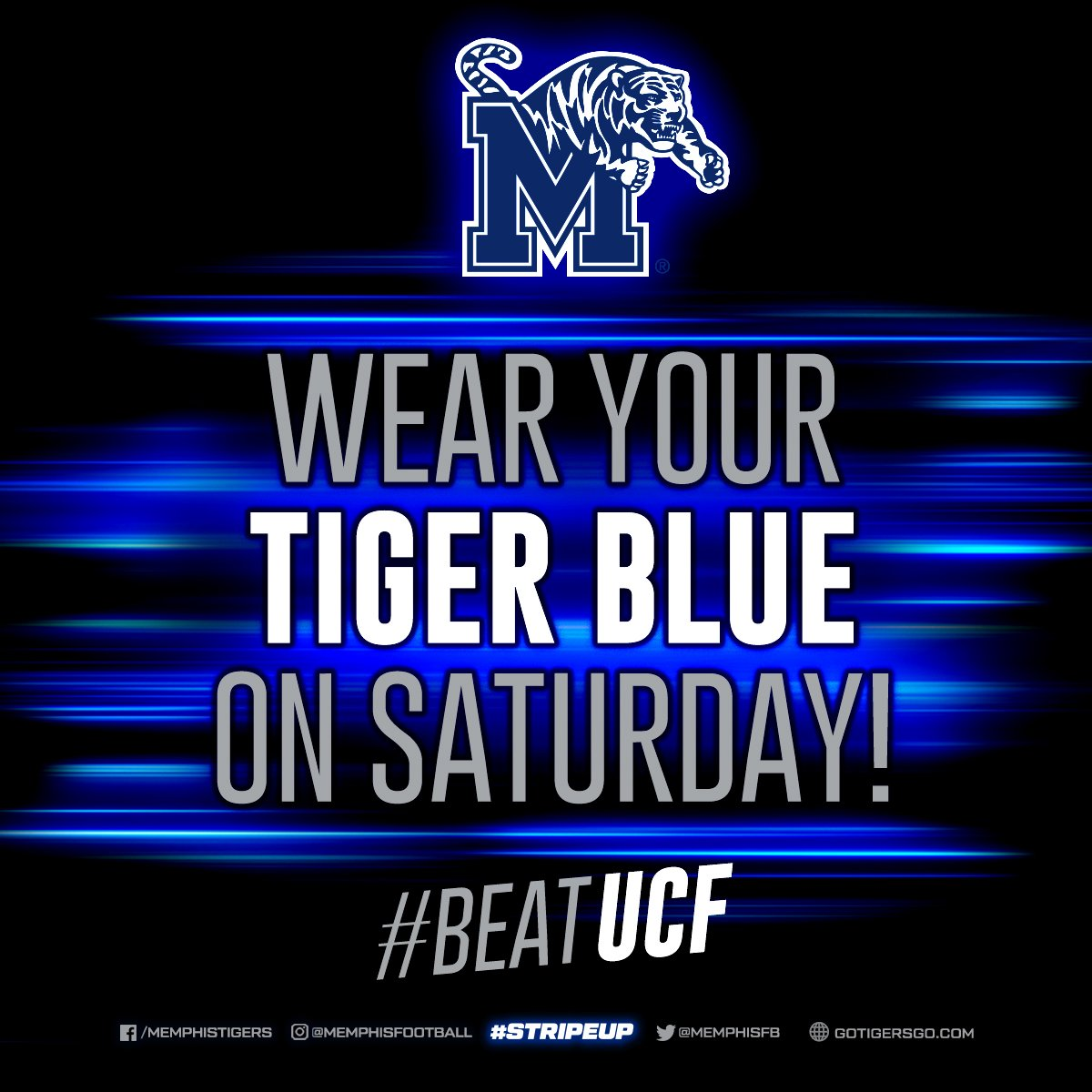 9️⃣0️⃣1️⃣ we are calling for a #BlueOut for the football game on Saturday!  Tickets ➡️ http://gotigersgotix.com  #BeatUCF #GoTigersGo #StripeUp #BlueOut