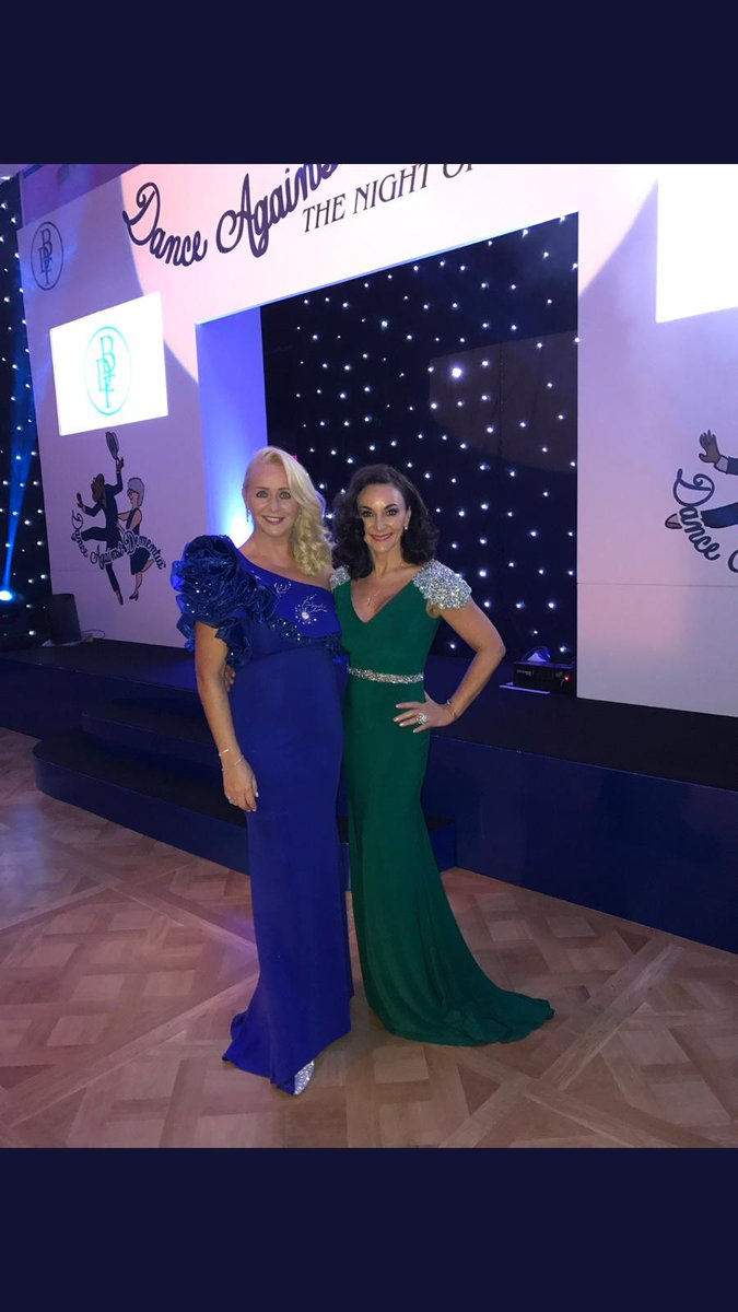 The stunning @ShirleyBallas wearing our embellished shoulder evening gown. Available on line or in Serenity &amp; Grace concessions in House Of Fraser. <br>http://pic.twitter.com/JJOOj82eM2