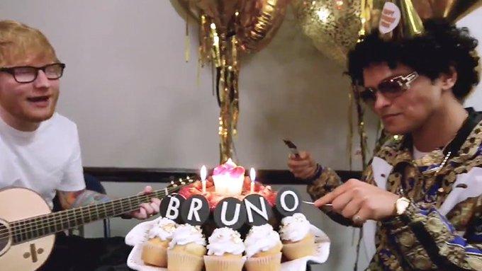 Bruno Mars Hires Ed Sheeran To Sing Him Happy Birthday