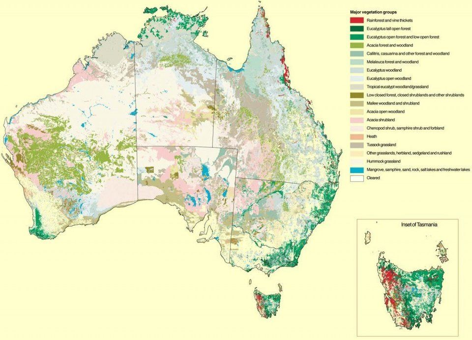 Australia Map Vegetation.Simon Kuestenmacher On Twitter Map Shows The Different Vegetation