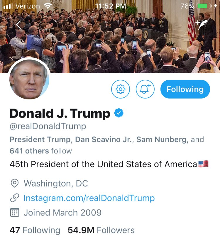 With his new twitter banner, trump is making clearer that he thinks Kavanaugh is his