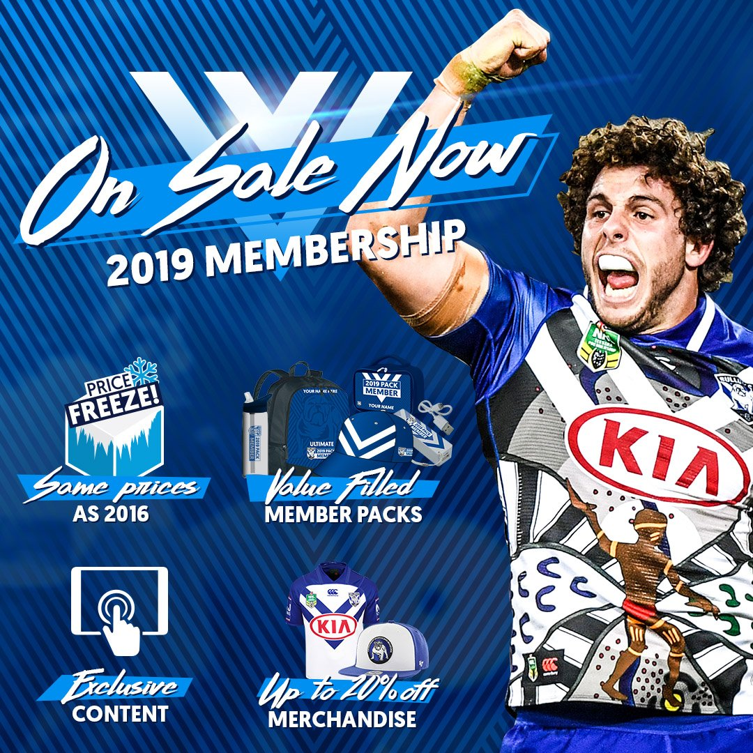 Nrl Bulldogs On Twitter Have You Joined The Pack For 2019 Join