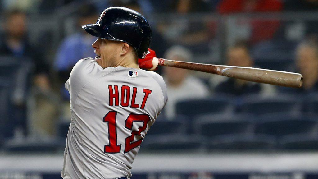 31e4a6209f36 Brock Holt becomes first player to hit for the cycle in the postseason  https