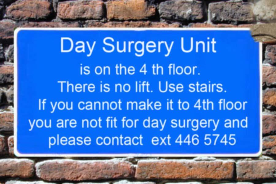 Gezien op congres @ESGEorg: natuurlijke selectie of een patiënt wel fit genoeg is voor een operatie in dagopname.