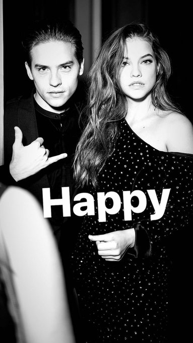 """Dylan Sprouse to Barbara Palvin:  \""""Happy Birthday To this Funyun\"""""""