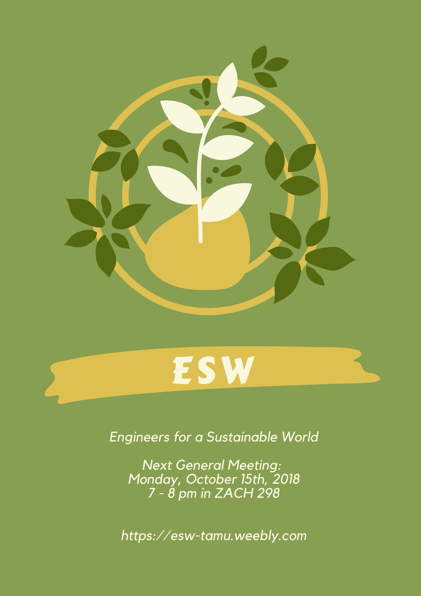 engineers for a sustainable world eswhq twitter