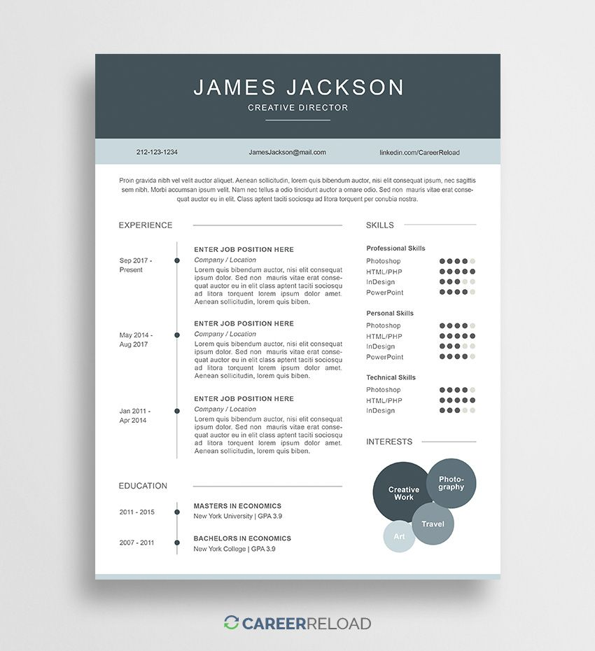 Resume And Form Template Ideas: Graphicadi (@Graphicadi)