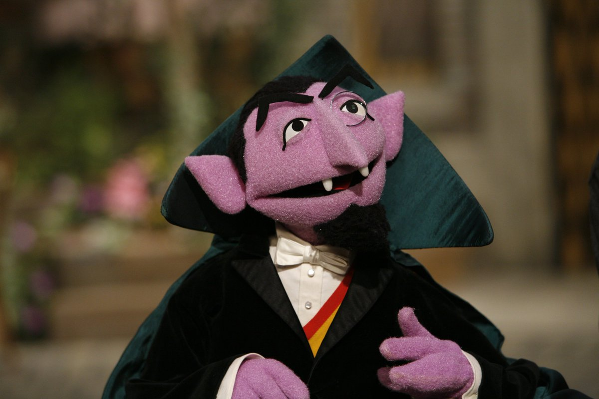 Image result for count von count""
