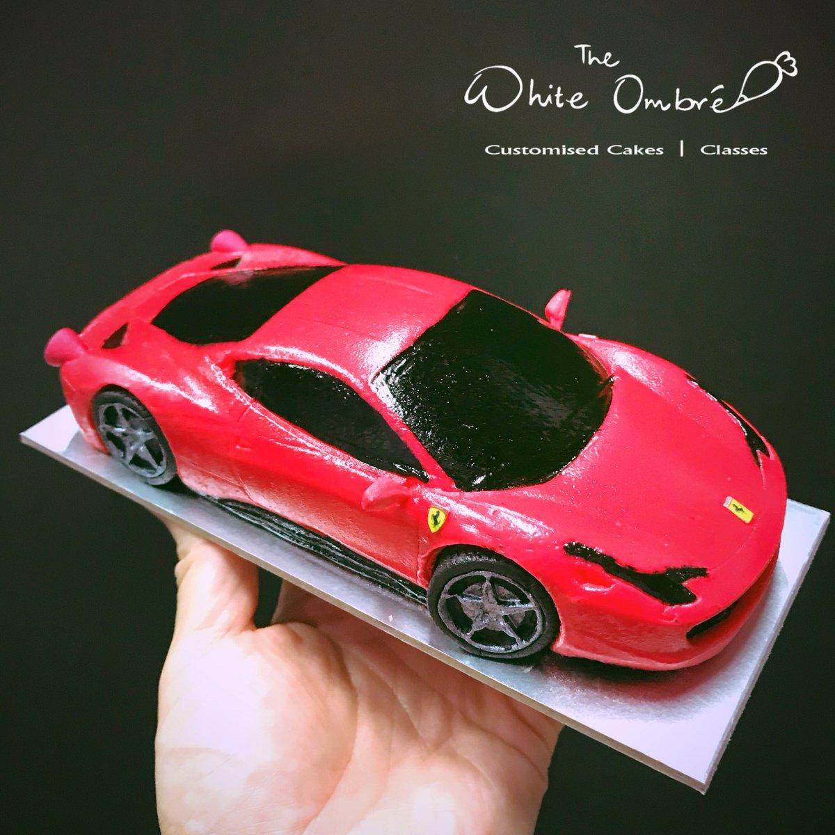The White Ombre On Twitter Mini 3d Ferrari Italia Car Cake