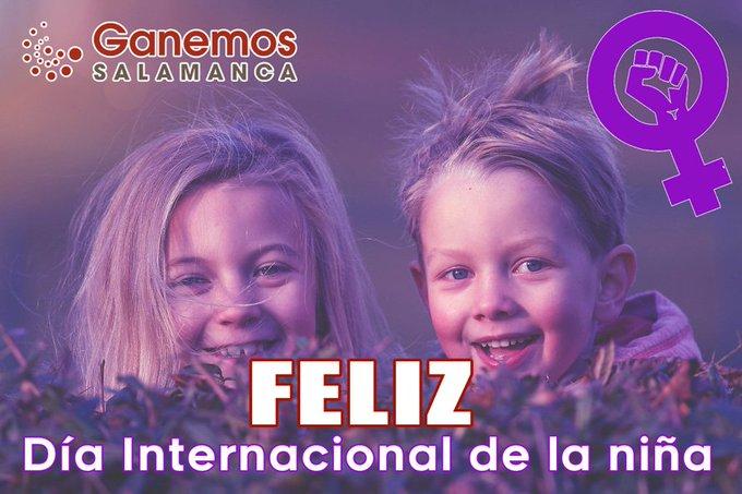 💪💜DÍA INTERNACIONAL DE LA NIÑA💜💪 Hoy, 11 de octubre, es el #DíaInternacionalDeLaNiña Empoderar a las niñas es responsabilidad de nuestra sociedad 🌟¡Niñas con fuerza para soñar y para cumplir su sueños! ✊Ellas son nuestro futuro✊ Photo