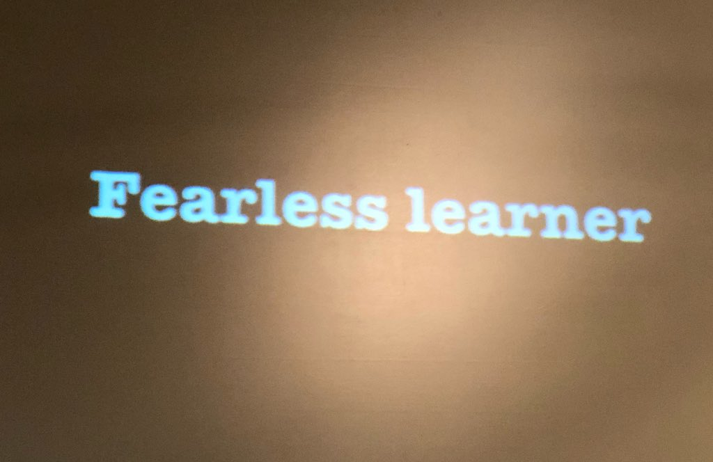 "It's not about being ""techie"" it's about fearless learning via @mradamwelcome #CNYSLS18"
