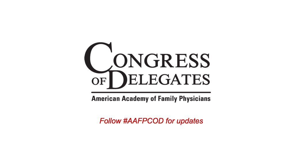 Welcome to day 2 of the #AAFP Congress of Delegates! Be sure to join