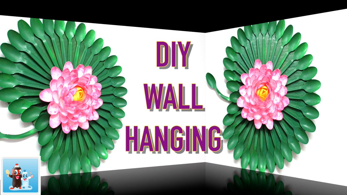 Diy Recycled Crafts On Twitter Wonderfull Lotus As A Wall Hanging
