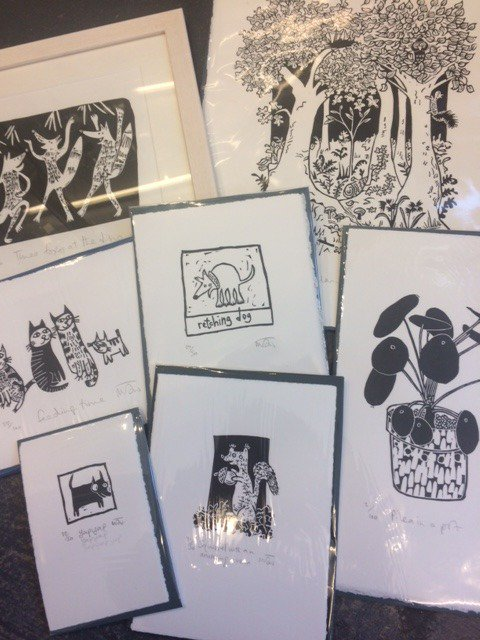Lots of fabulous new prints from @MelanieWickham now in stock!#handmade #prints #roath #Cardiff