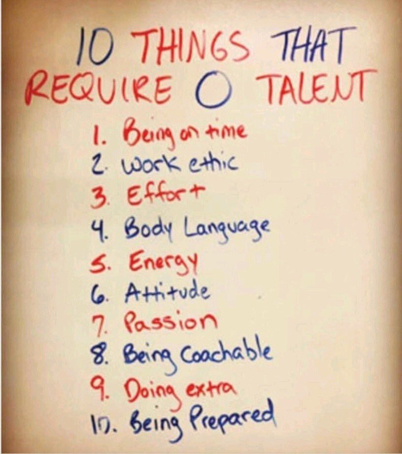 10 Things that require zero talent...