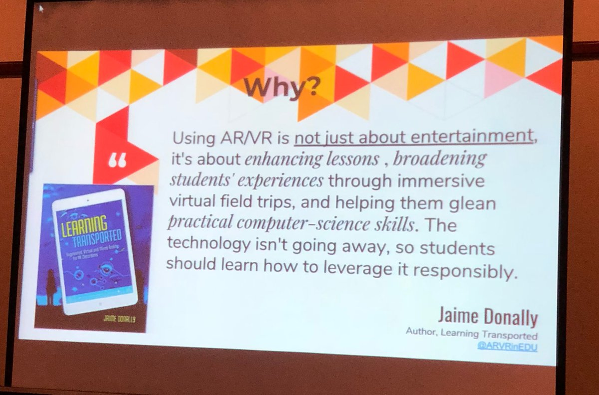 Shoutout to my beautiful friend and #ARVRinEDU guru at #CNYSLS18 via Marina Machado