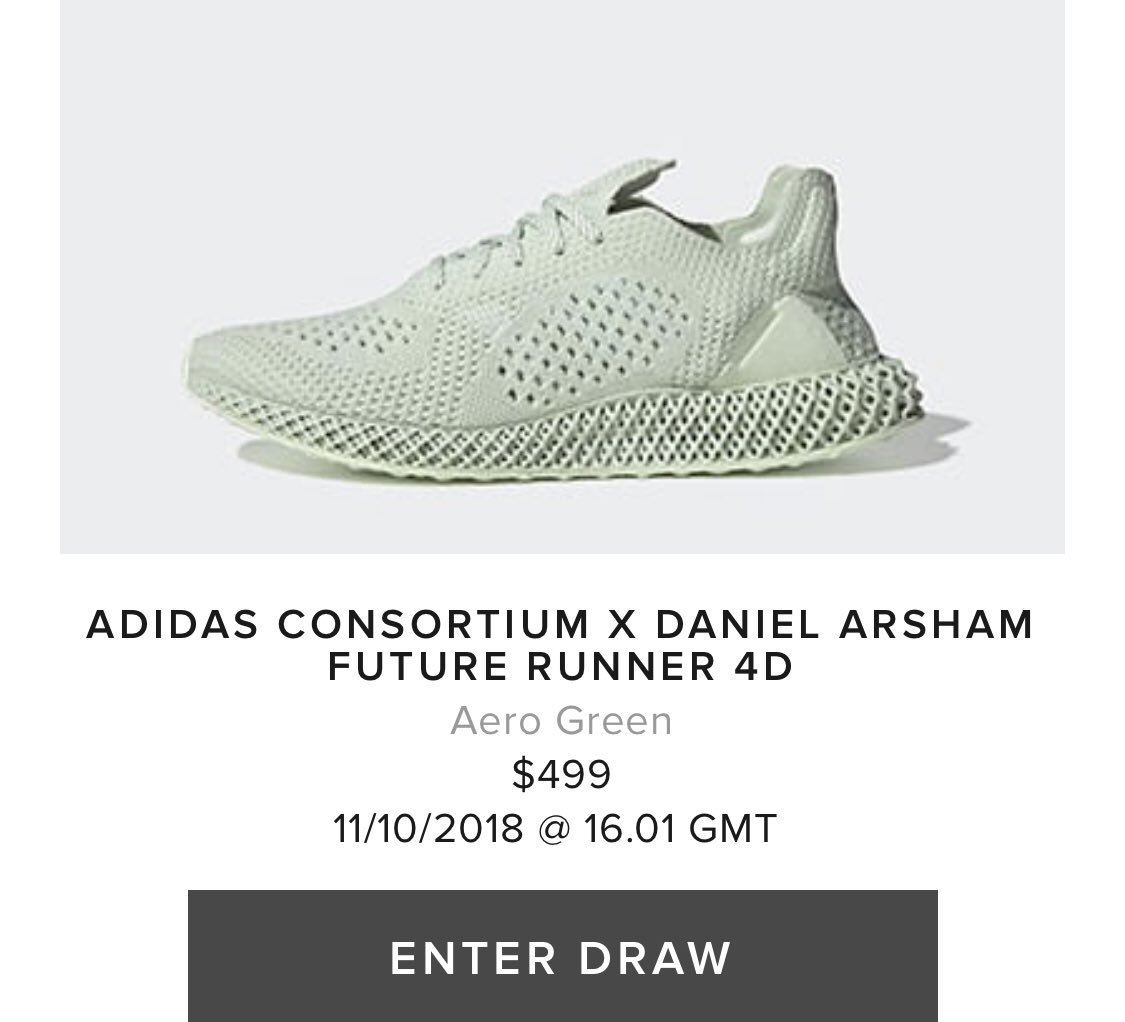 ca851b03be6 adidas Consortium x Daniel Arsham Future Runner 4D online raffles w   shipping open here Bodega https   bit.ly 2A0vbVa End https   bit.ly 2CvZgyx  SNS ...