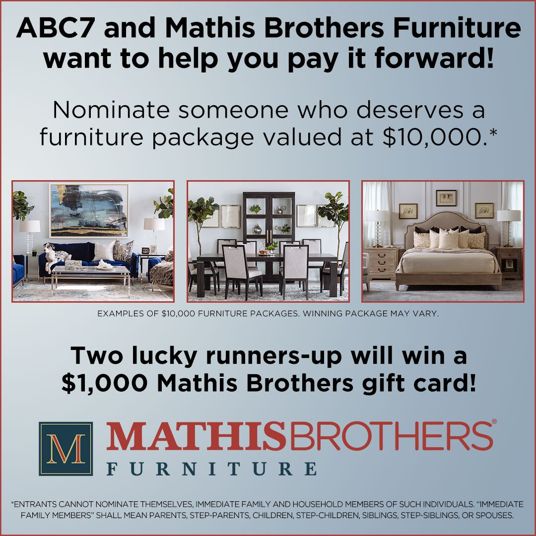 abc7 and mathis brothers furniture are partnering up to help you