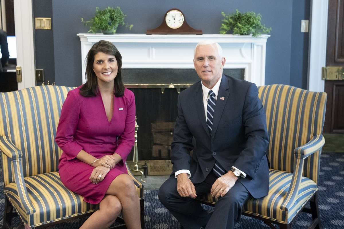 Image result for mike pence nikki haley