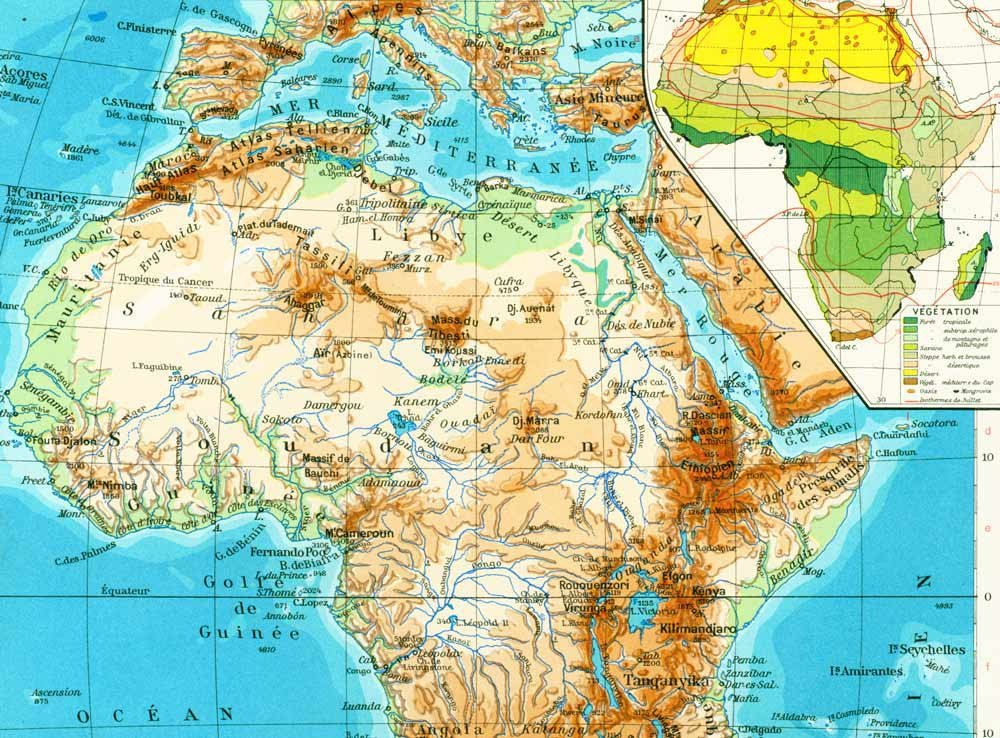 Map Of Africa 1950.Antiquemapprint Hashtag On Twitter