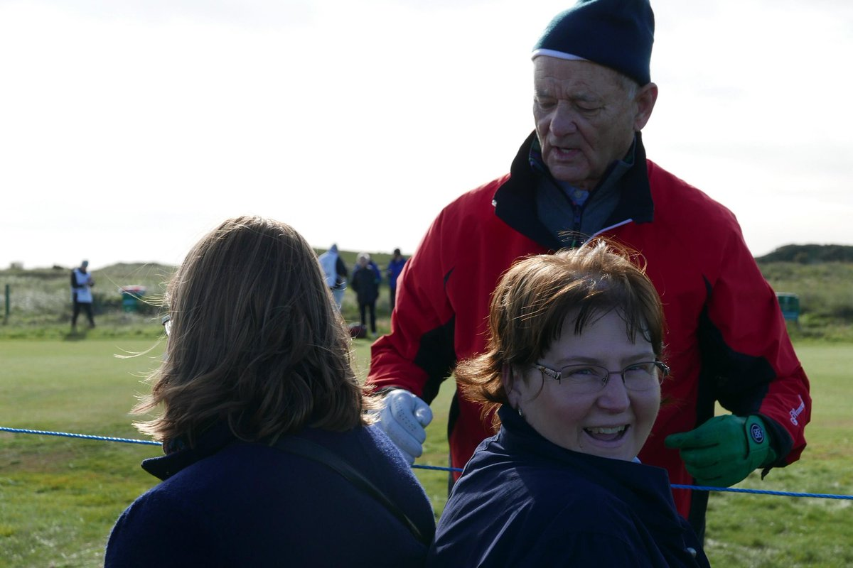 Not everyday you have a funny encounter with the one &amp; only #BillMurray @dunhilllinks . It was so funny &amp; made our day!  Thanks to @enid_eyeglass for capturing this moment for us!   #dunhilllinks<br>http://pic.twitter.com/bp2cXvSAuW